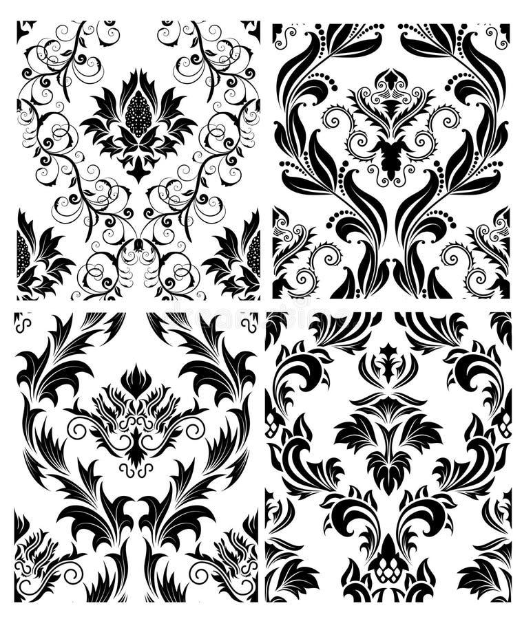 Download Seamless Damask Patterns Set Stock Vector - Image: 12077759