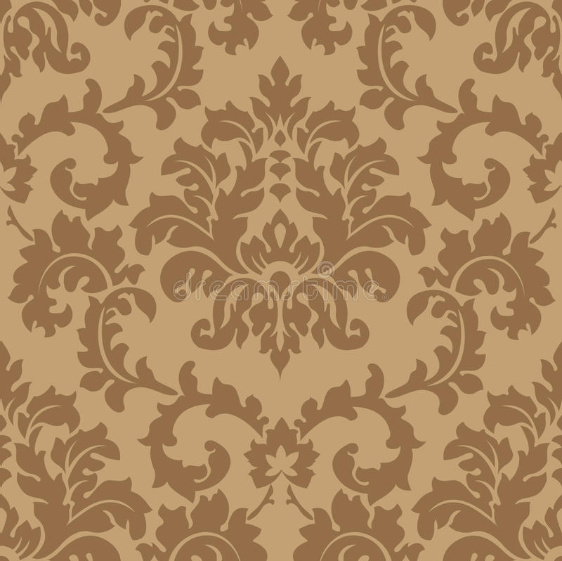 Download Seamless Damask wallpaper stock vector. Image of textile - 11770740