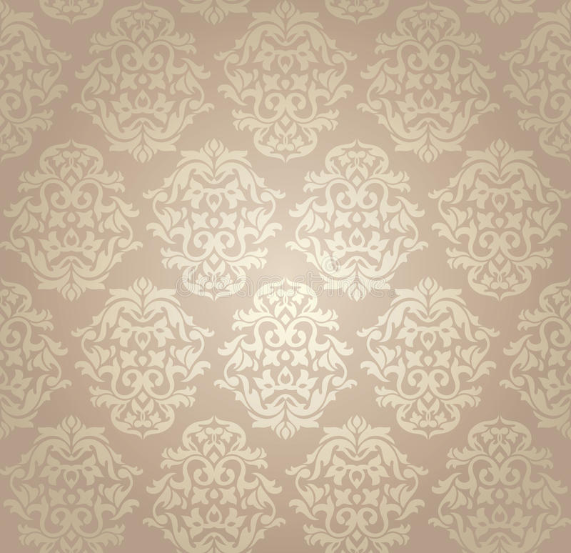 Download Seamless damask wallpaper stock vector. Image of tile - 17421731