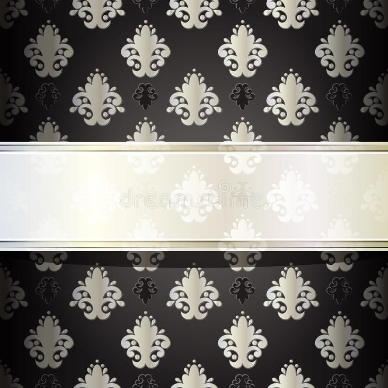 Download Seamless damask wallpaper stock vector. Image of artistic - 20825283