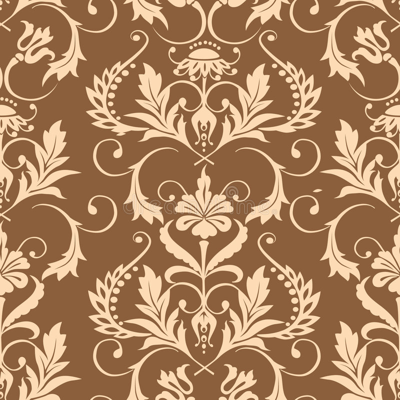 Download Seamless Damask Wallpaper Stock Vector Illustration Of Antique