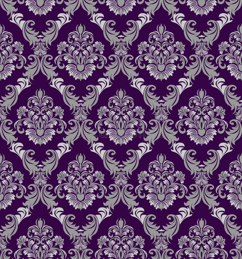 Download Seamless Damask Wallpaper In Victorian Style For Design Stock Vector