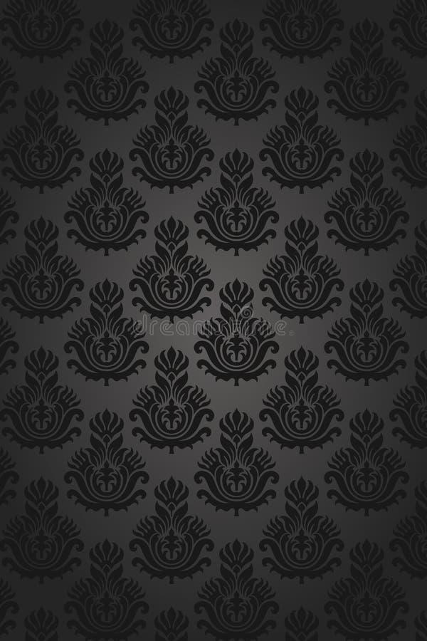 seamless damastast modell royaltyfri illustrationer