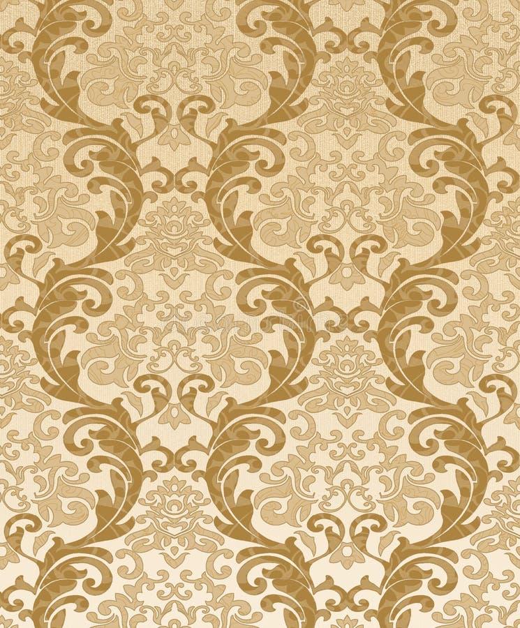 Seamless damastast wallpaper royaltyfri illustrationer