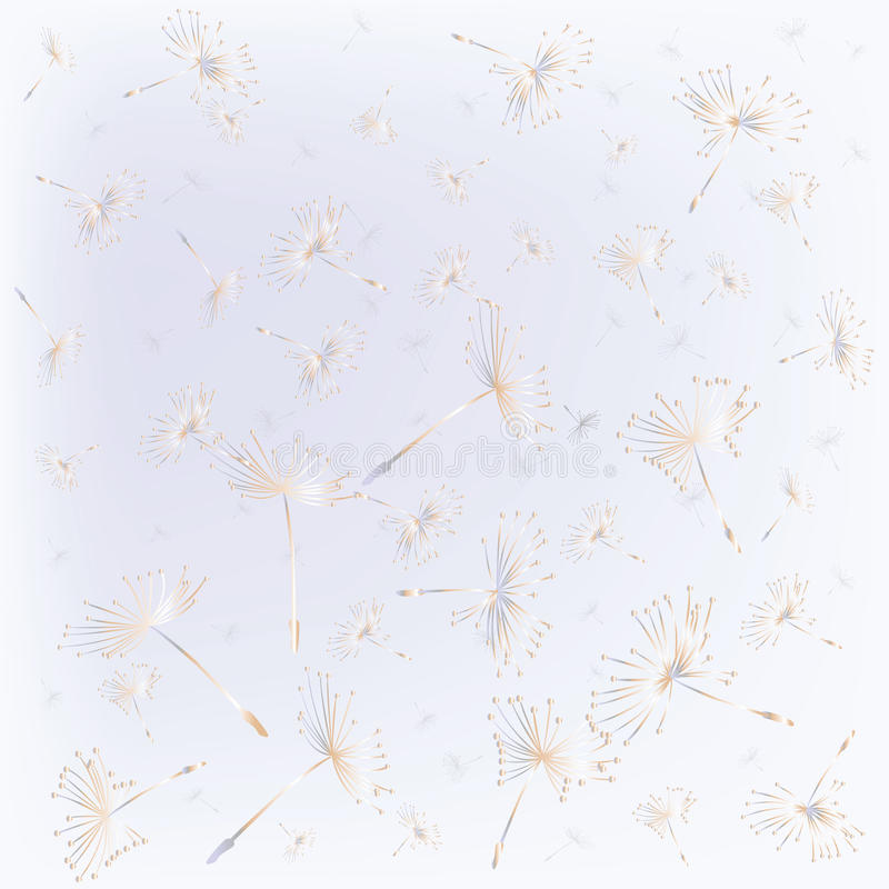 Seamless with dandelion seeds