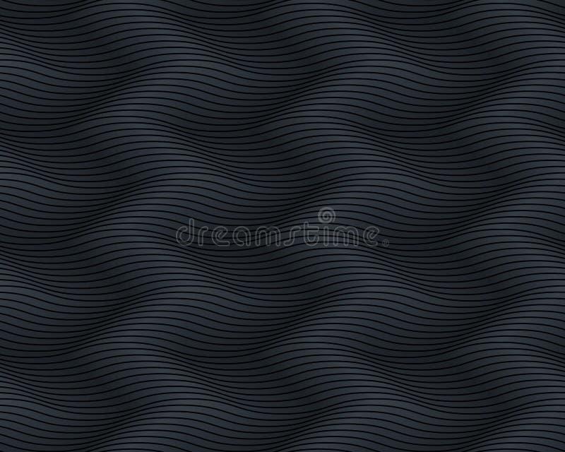 Seamless dark black pattern wavy. Endless texture royalty free stock photo