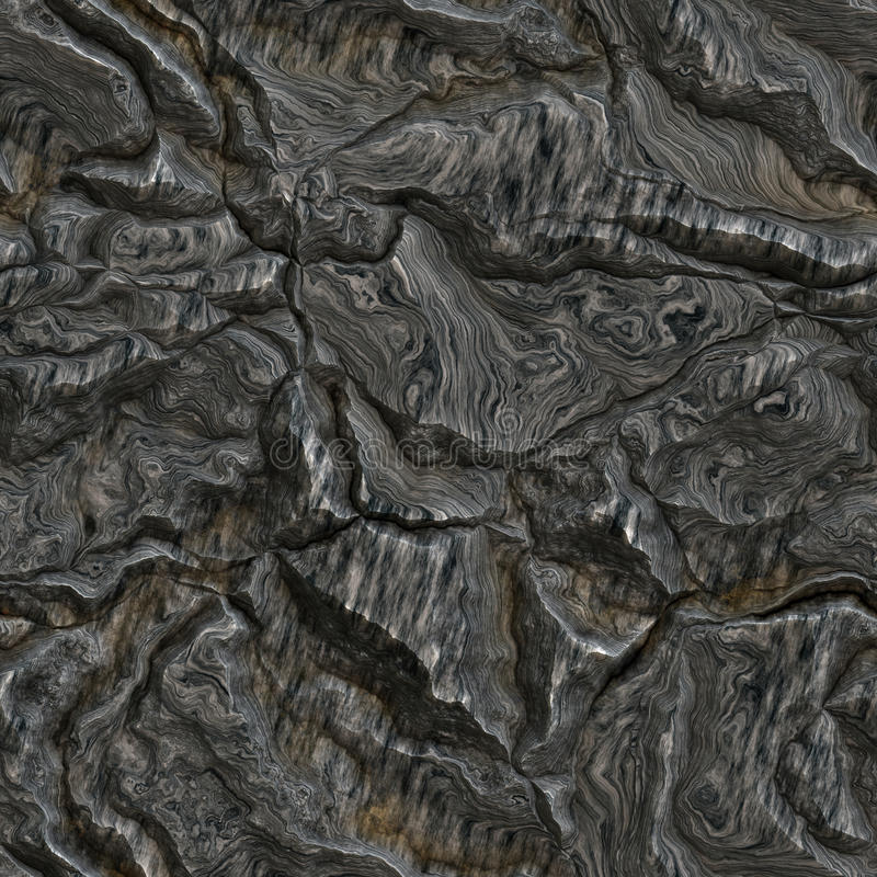 Seamless dark rock texture. Background royalty free illustration