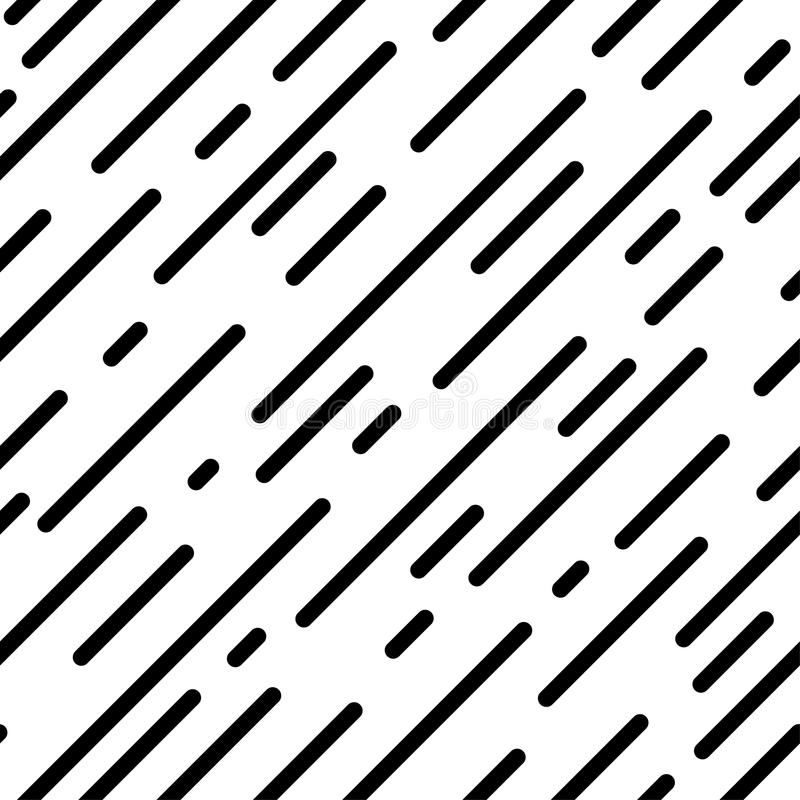 Seamless dashed diagonal background. Repeating vector pattern. Oblique lines of different lengths. Abstract geometric lines. royalty free illustration