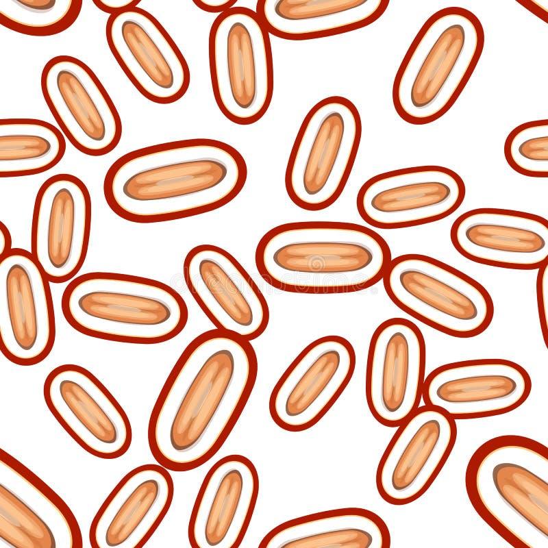 Seamless dates vector pattern. Minimalistic food background. Vitamins repeatable texture. Seamless dates vector pattern. Minimalistic food background. Vitamins stock illustration