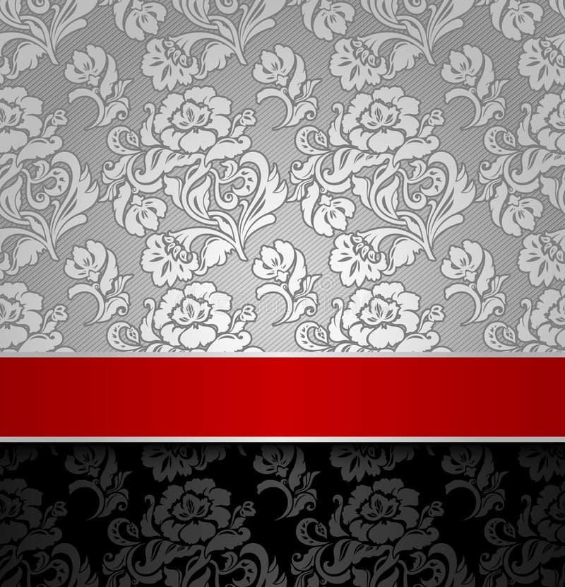 Seamless decorative background silver stock illustration