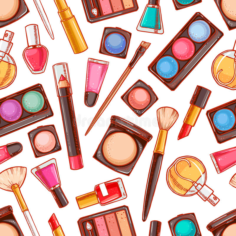Free Seamless Decorative Cosmetics - 4 Royalty Free Stock Images - 48816419