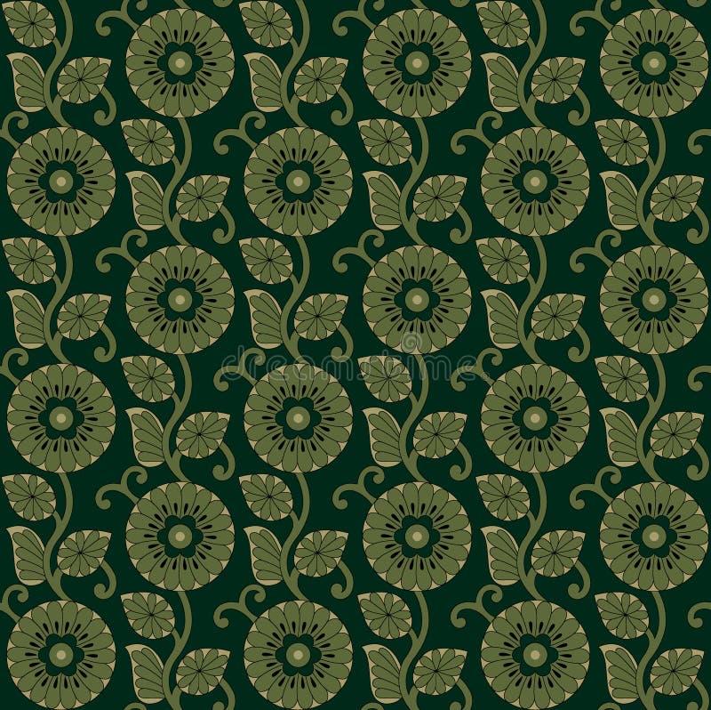 Seamless decorative flower pattern background vector illustration
