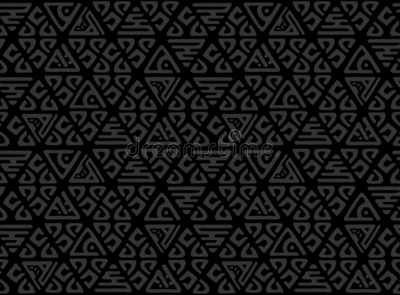 Seamless decorative hand drawn pattern. Ethnic endless background with ornamental decorative elements with traditional ethnic moti vector illustration