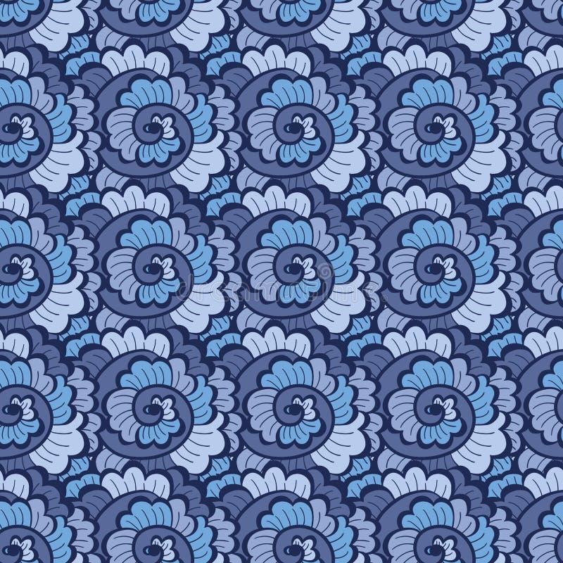 Download Seamless Decorative Wavy Pattern Blue Stock Vector - Illustration: 27528198