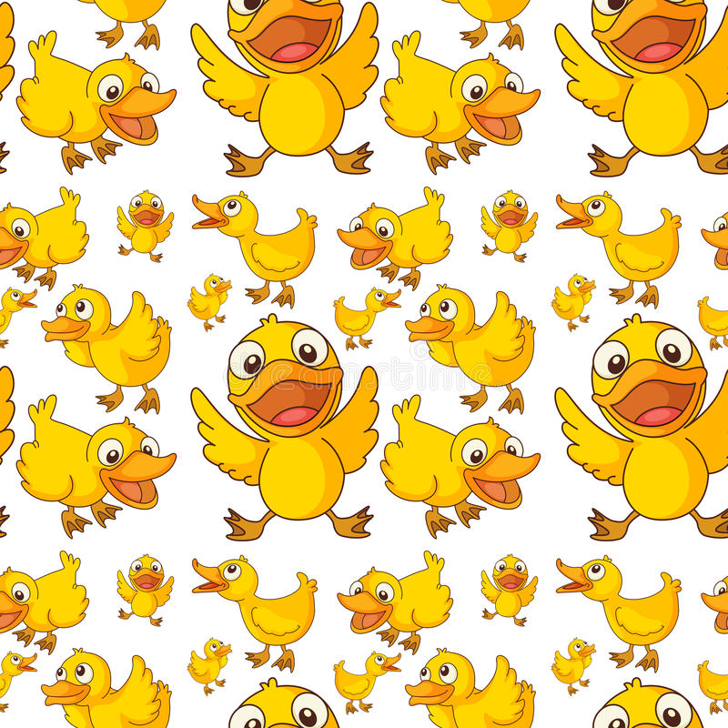 Seamless design of ducklings vector illustration
