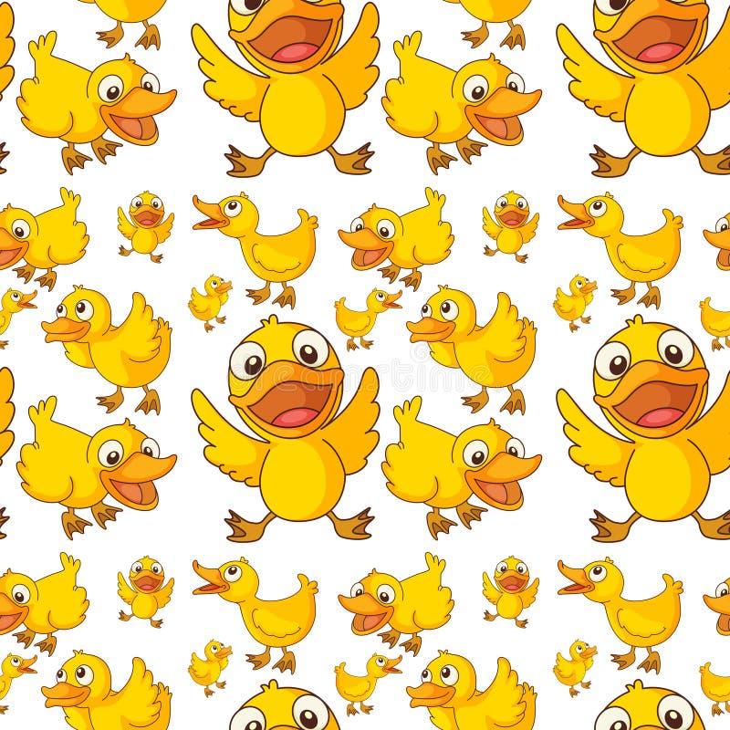Seamless design of ducklings vector illustration