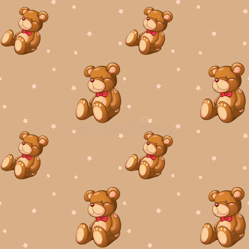 A seamless design with teddy bears royalty free illustration