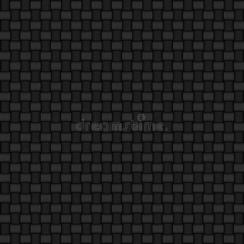 Seamless detailed carbon fibre background texture stock illustration