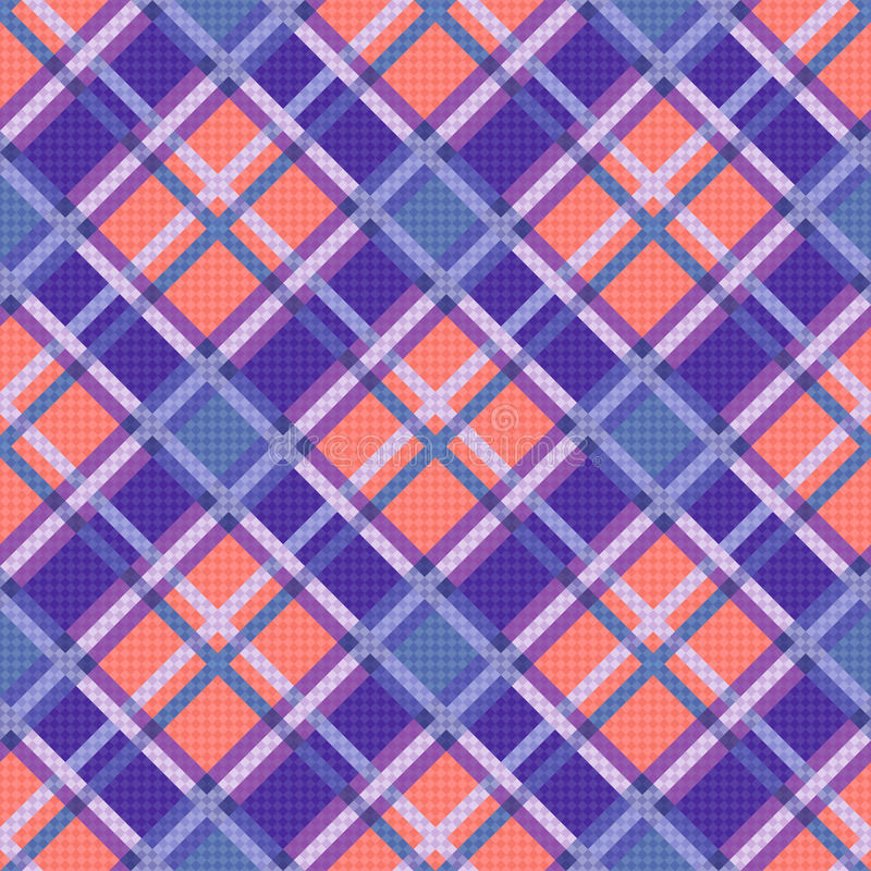 Seamless diagonal pattern in blue, coral and violet. Seamless diagonal vector colorful pattern mainly in blue, coral and violet colors vector illustration
