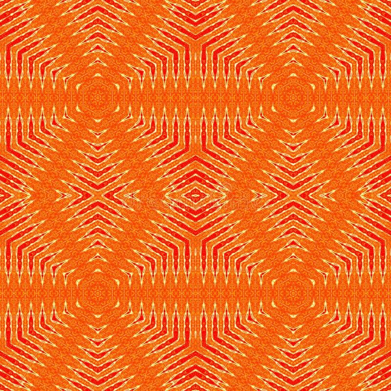 Seamless diamond pattern orange red beige stock illustration