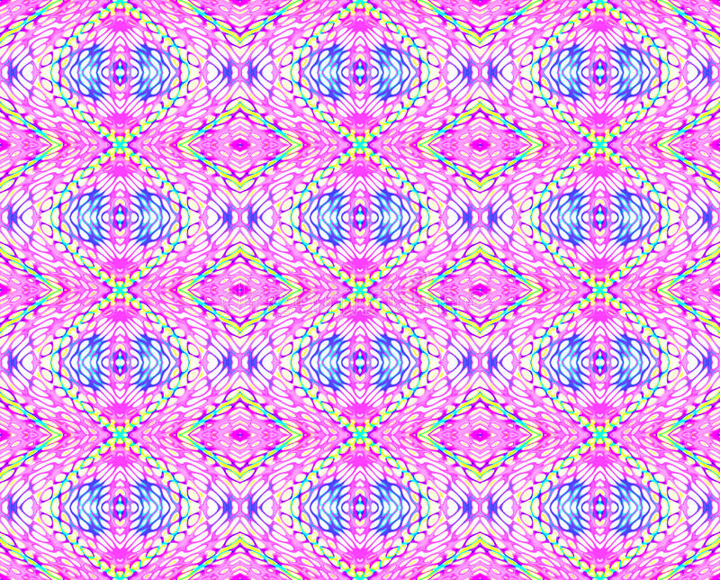 Seamless diamond pattern violet yellow turquoise purple blue beige vector illustration
