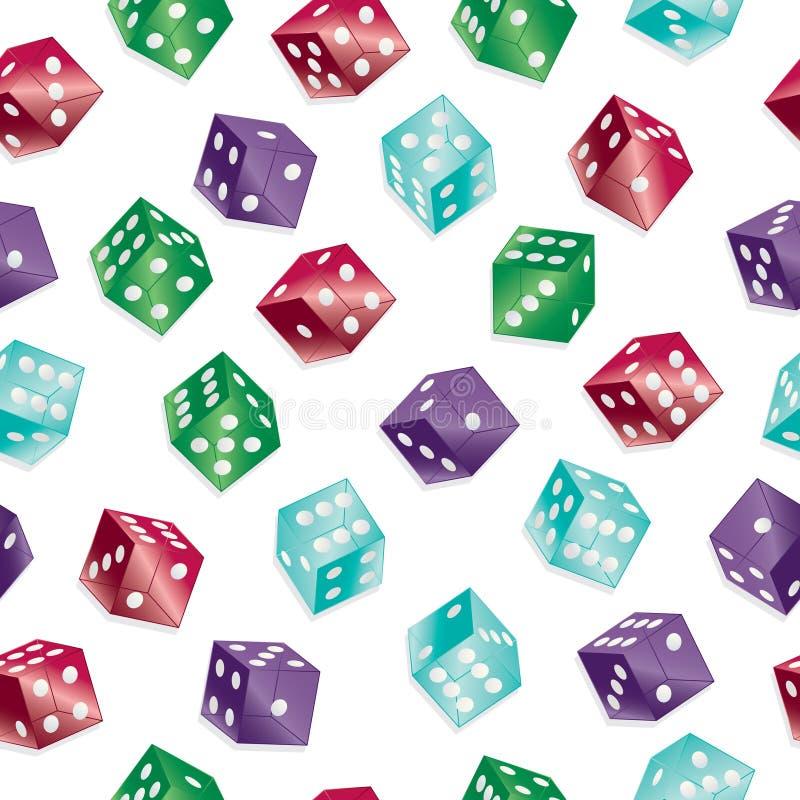 Seamless dice pattern stock illustration