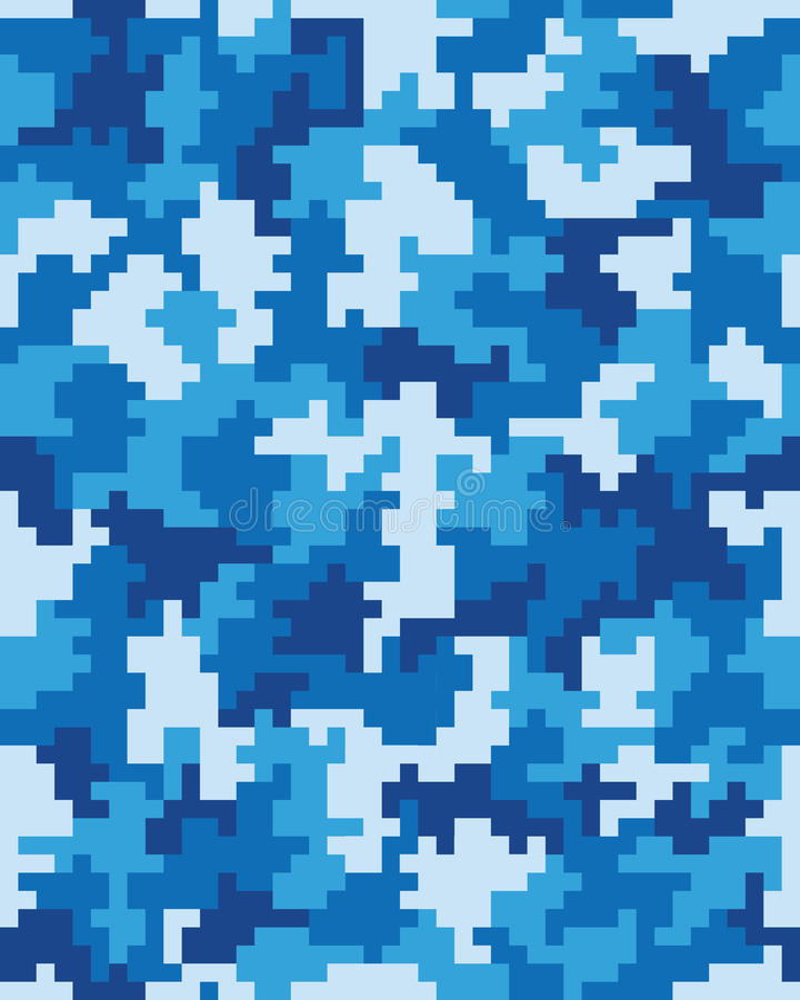 Seamless of digital camouflage. Seamless pattern of digital camouflage, fabric material vector illustration