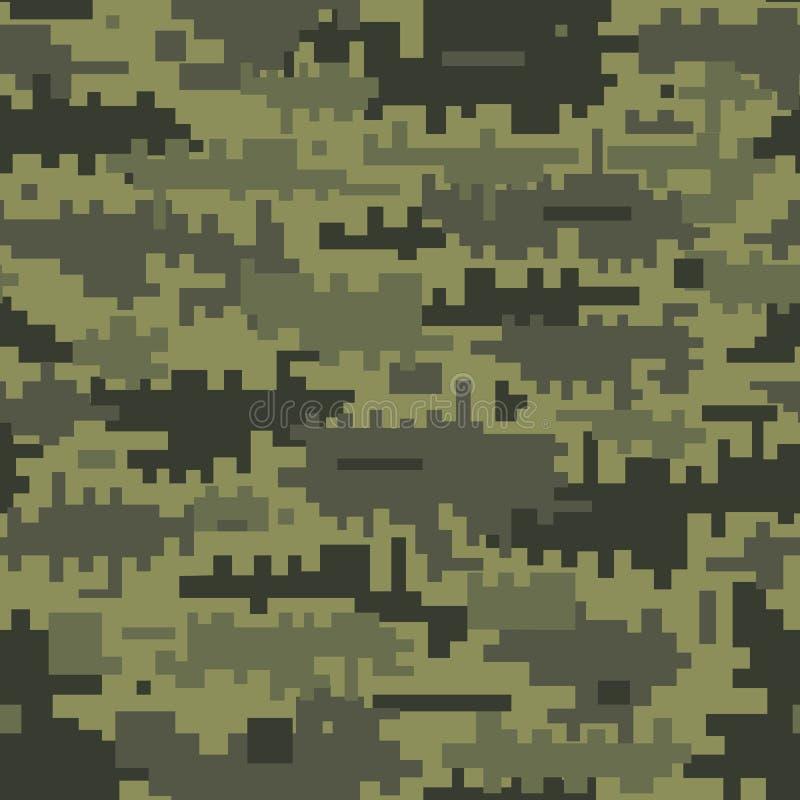 Seamless Digital kamouflage m?nstrar royaltyfri illustrationer