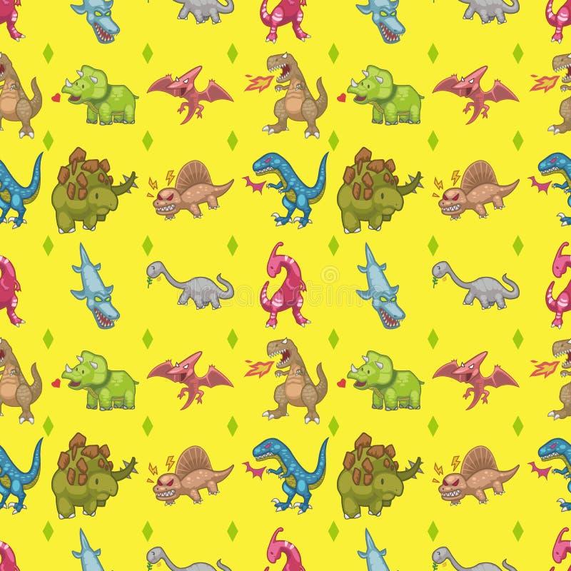 Download Seamless dinosaur pattern stock vector. Illustration of fantasy - 28115487