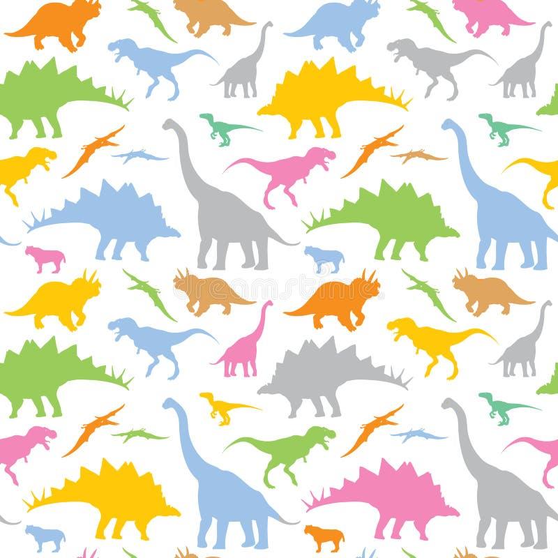 Seamless dinosaurmodell royaltyfri illustrationer