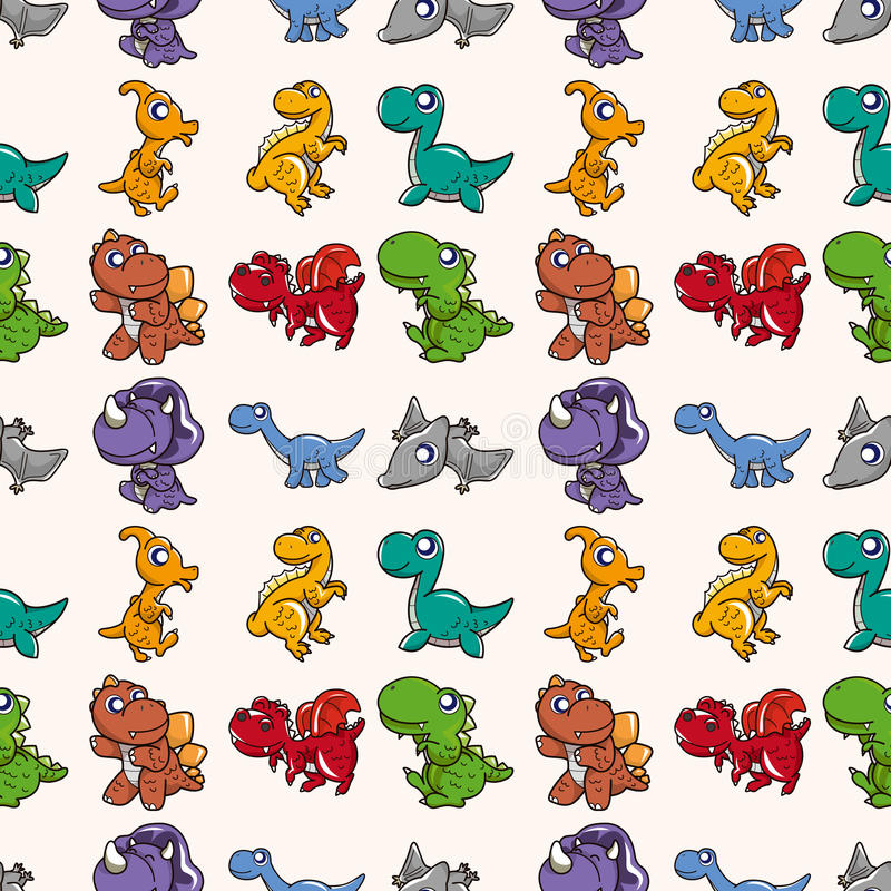 Download Seamless Dinosaurs pattern stock vector. Illustration of element - 28055675