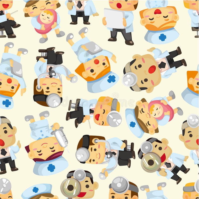 Download Seamless Doctor And Nurse Pattern Stock Photo - Image: 19180560