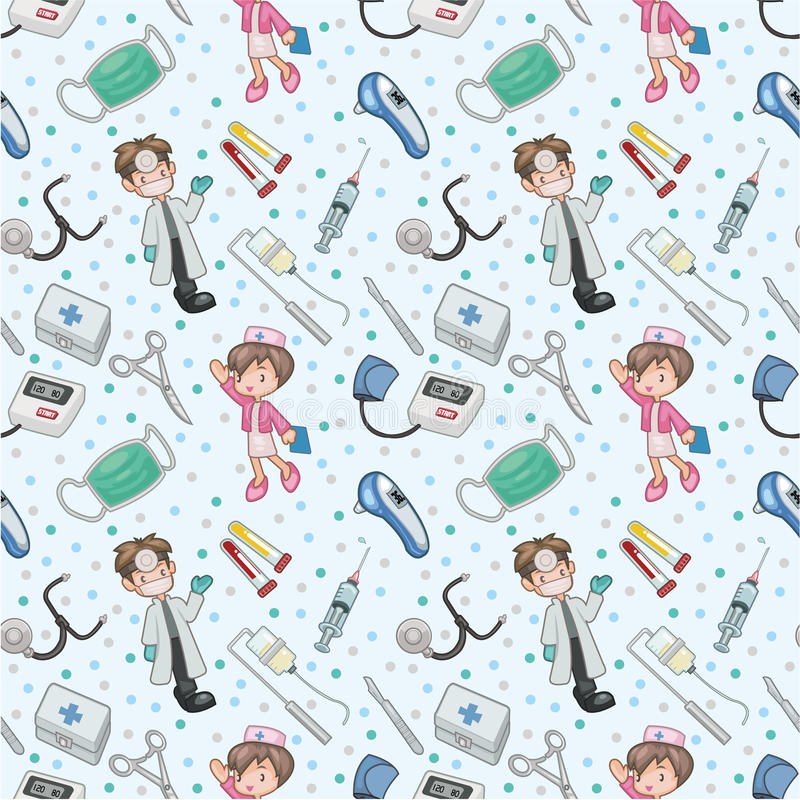 Download Seamless doctor pattern stock vector. Image of cute, hospital - 18030343