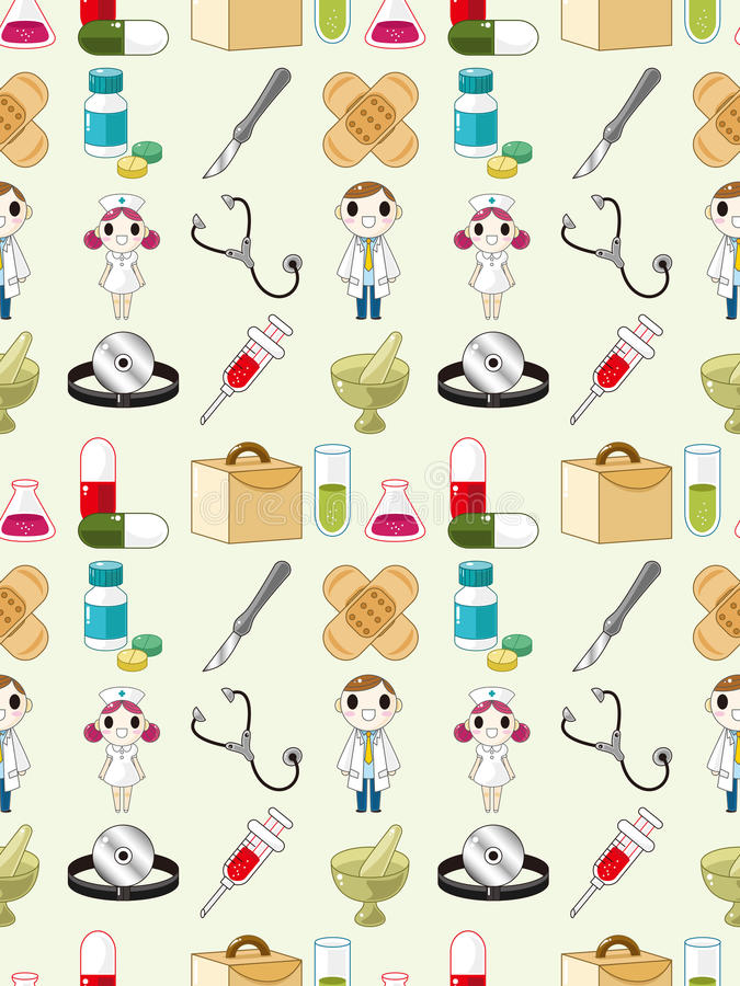 Download Seamless doctor pattern stock vector. Image of hand, liquid - 28170056