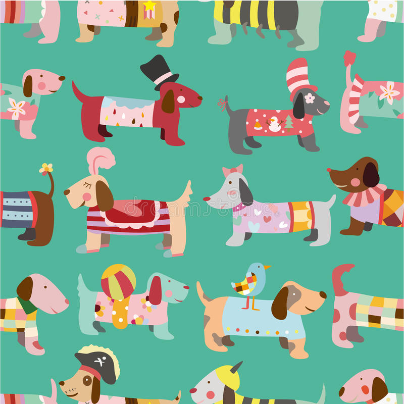 Download Seamless Dogs pattern stock vector. Illustration of concept - 17634963