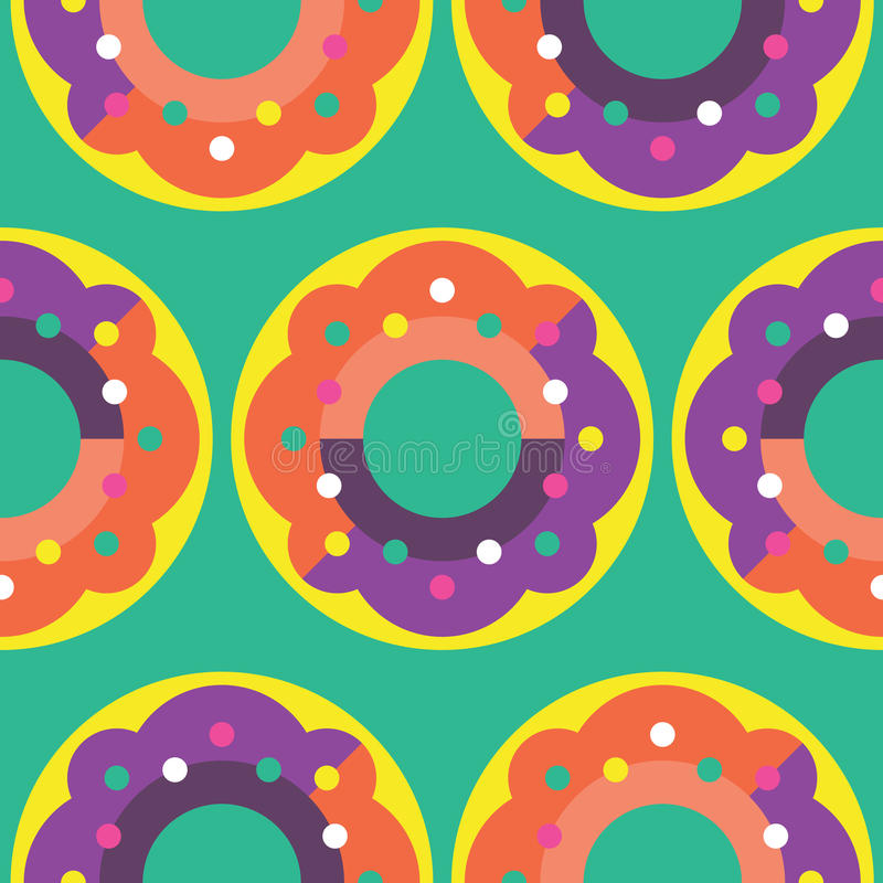 Seamless Donut Pattern stock photos