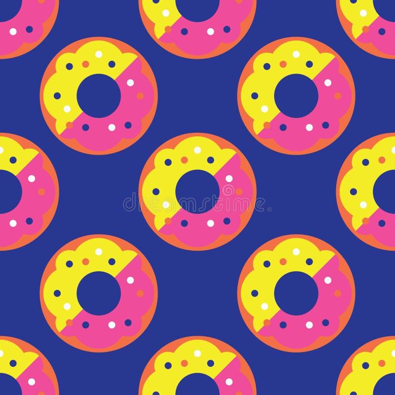 Seamless donut pattern stock image