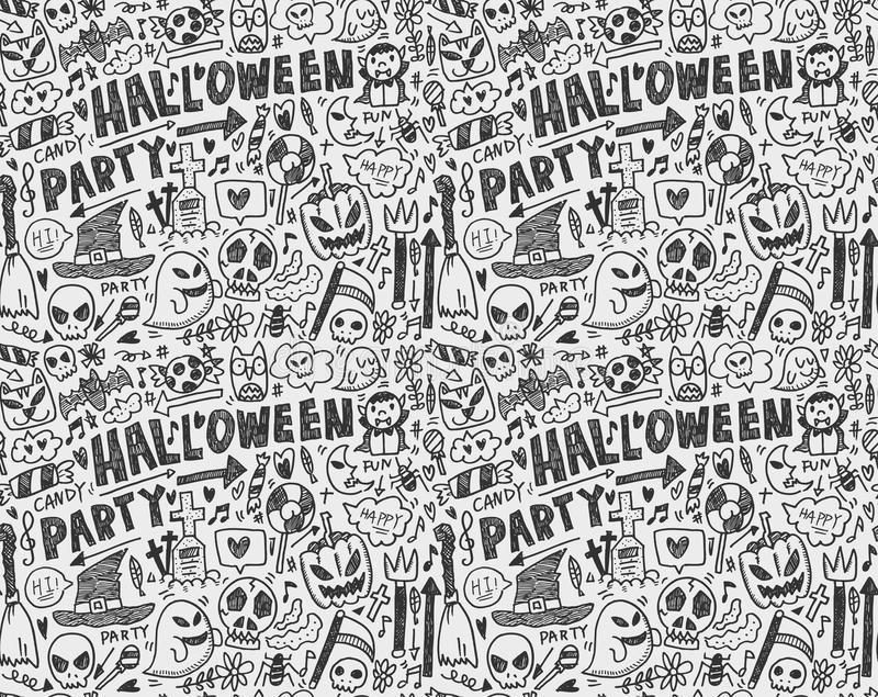 Download Seamless Doodle Halloween Holiday Background Stock Illustration - Illustration: 33533292