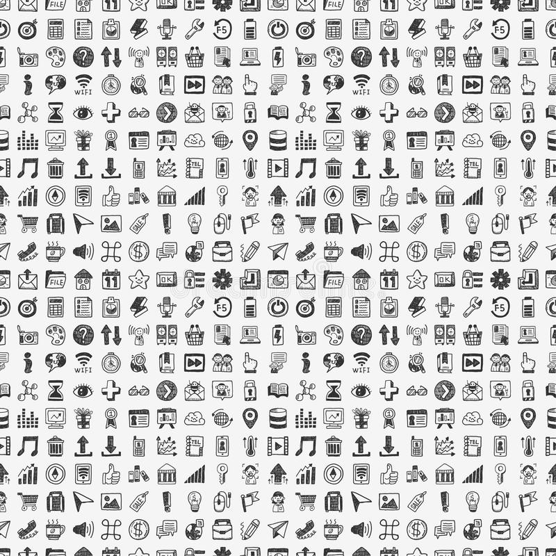 Download Seamless Doodle Network Pattern Royalty Free Stock Photos - Image: 35242568