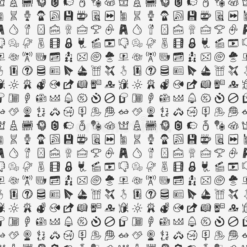Download Seamless Doodle Network Pattern Stock Vector - Image: 35410065