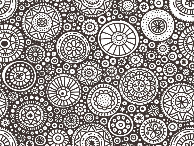Seamless doodle pattern royalty free illustration
