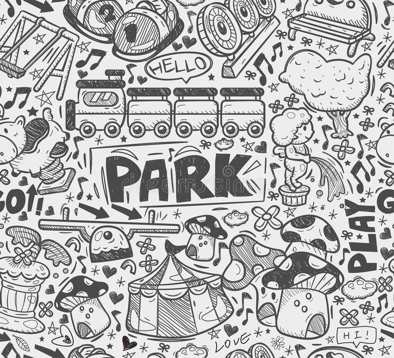 Download Seamless Doodle Playground Pattern Stock Illustration - Image: 33416610