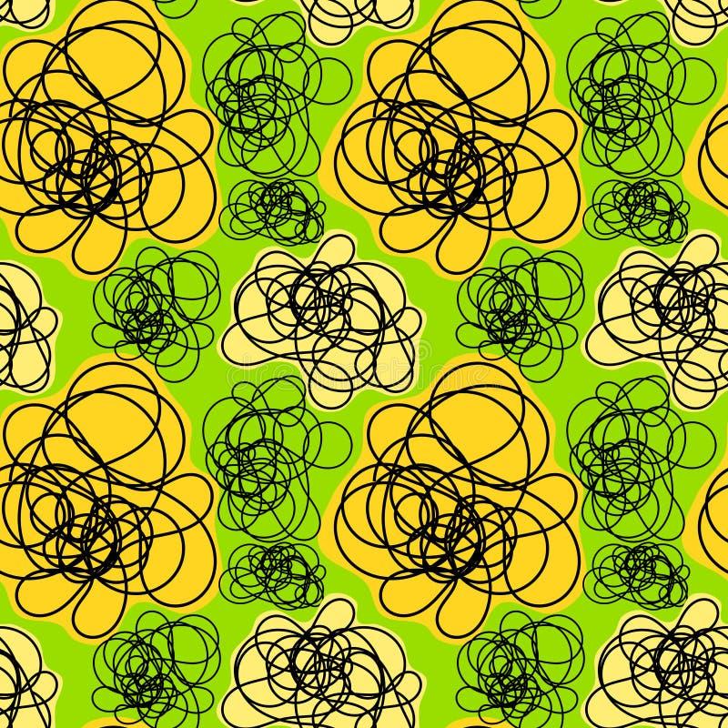 Download Seamless Doodle Smoke Pattern Stock Illustration - Image: 25457108
