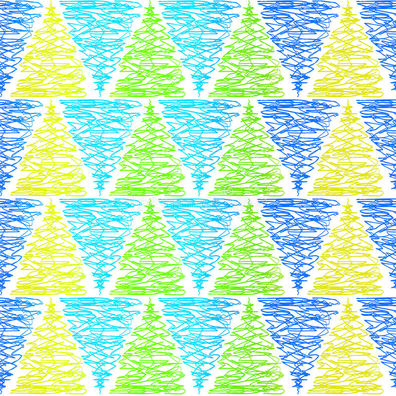 Seamless doodle triangles background pattern stock illustration
