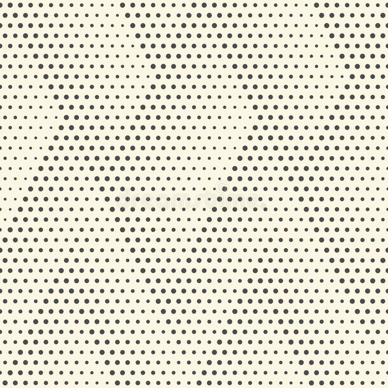 Seamless Dots Pattern. Abstract Black and White Background. Vector Regular Halftone Texture. Abstract Geometric Ornament vector illustration