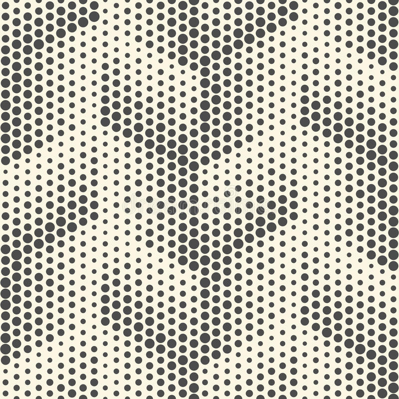 Seamless Dots Pattern. Abstract Black and White Halftone Background stock illustration