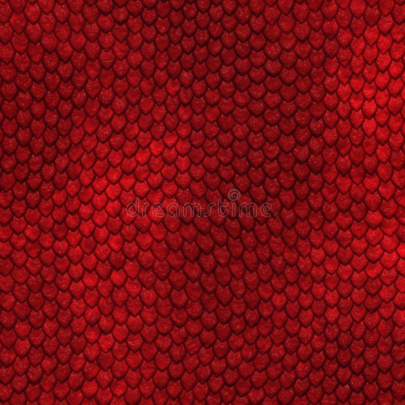 Seamless dragon scale pattern vector illustration