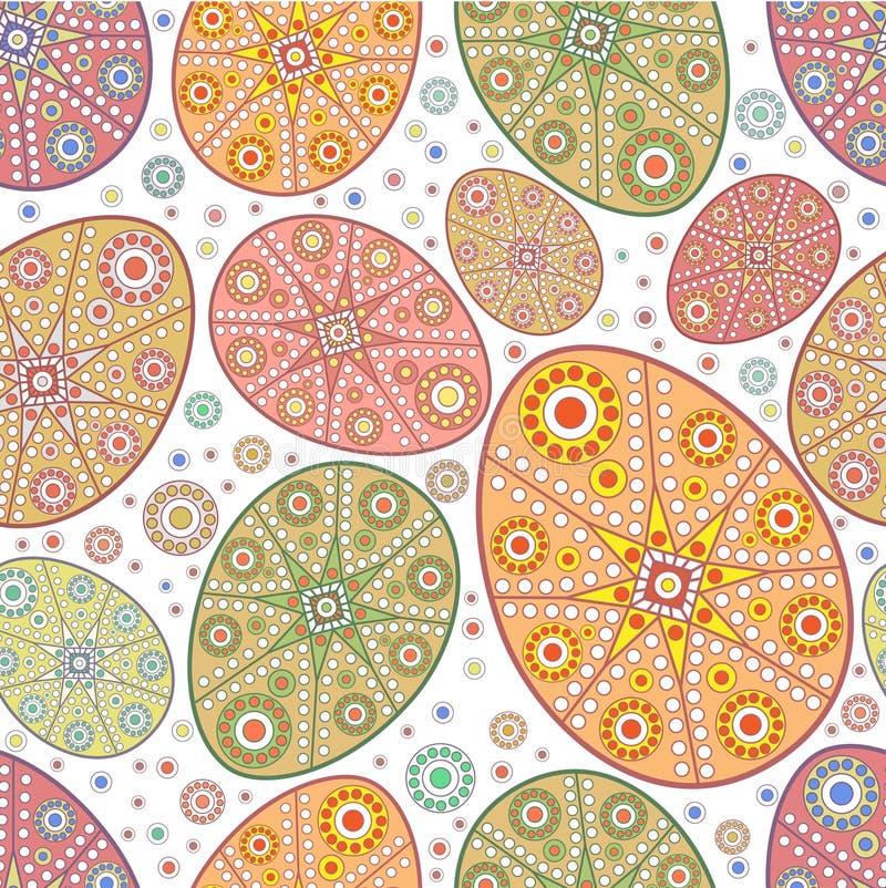Seamless easter egg ornamental pattern