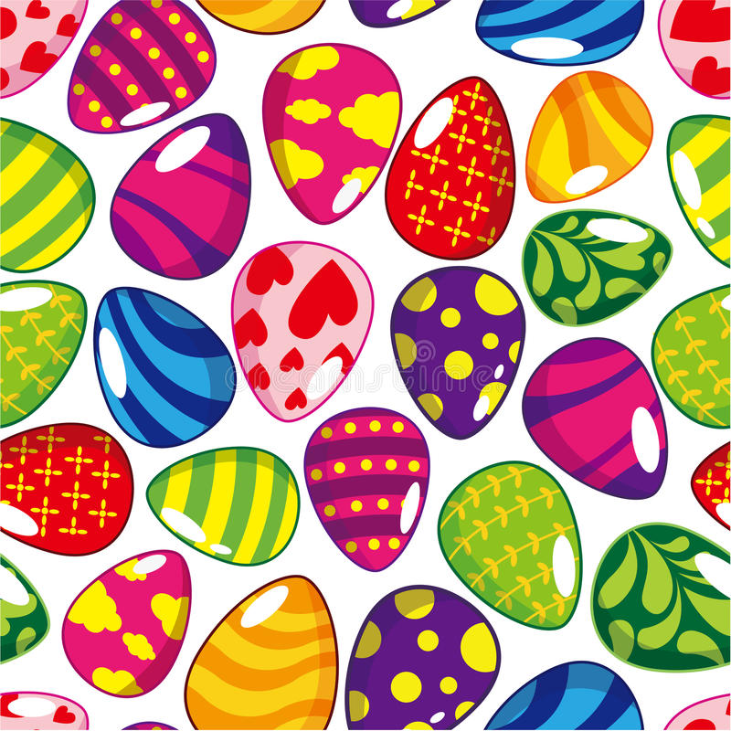 Seamless Easter Egg Pattern Stock Images