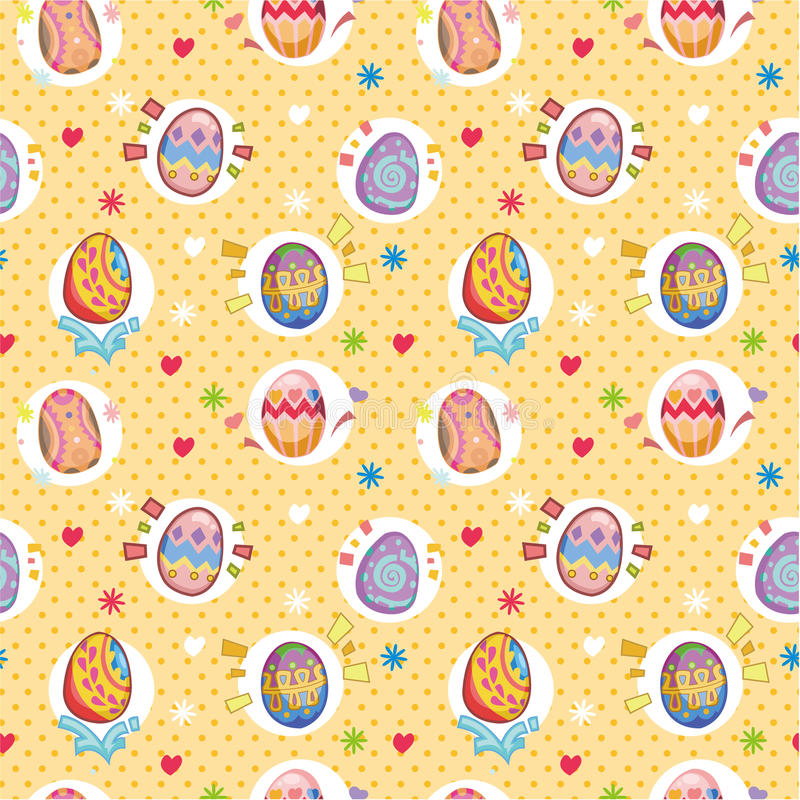 Seamless easter egg pattern vector illustration
